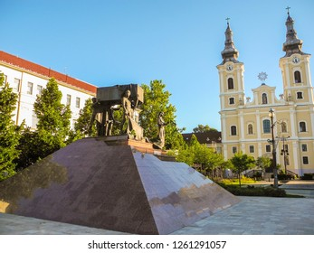 Miskolc, Hungary - July 2, 2018: Memorial to the fallen heroes of the city of Miskolc.