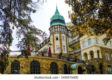 Miskolc, Hungary, May 20, 2019: Castle Hotel Palota in Lillafured, Miskolc.