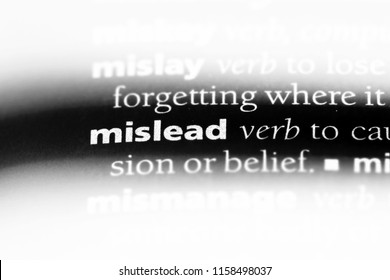 mislead word in a dictionary. mislead concept.