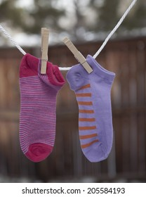 Mismatched children's socks