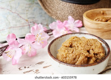 Miso paste with travel accessories