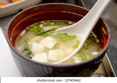 miso soup, japanese food