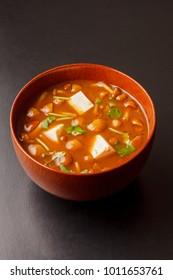 Miso Soup with Nameko Mushrooms