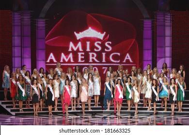 Miss America Contestants inside for Miss America Pageant 2007, Aladdin Resort & Casino, Las Vegas, NV, January 29, 2007