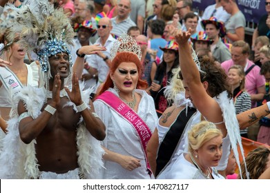 Miss Nederland Boat At The Gaypride Amsterdam The Netherlands 2019