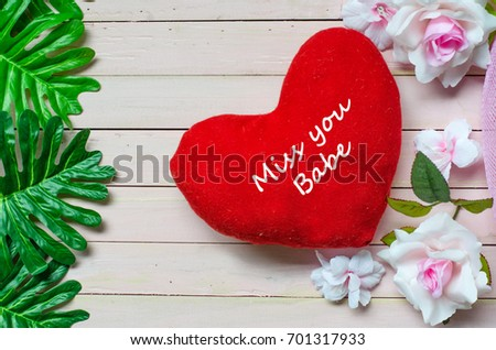 Miss You Babe Handwriting Message Lovers Stock Photo Edit Now