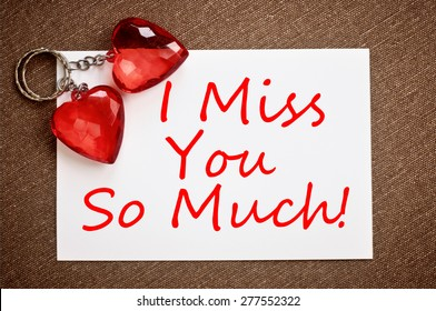 I missed you so