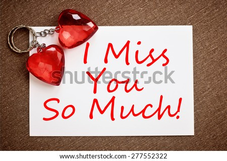Miss You Much Stock Photo Edit Now 277552322 Shutterstock