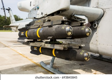 Missiles on an attack helicopter