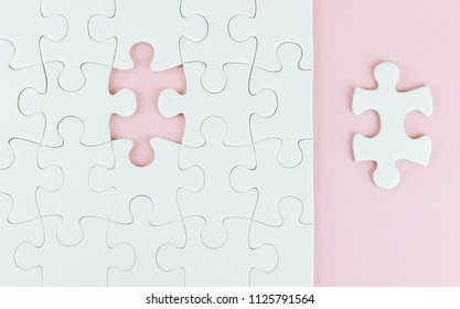 missing one piece of jigsaw puzzle,Job recruitment concept.