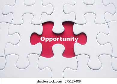 Missing puzzle with Opportunity word