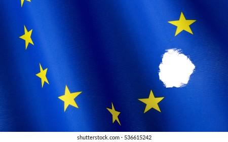 Missing star in European flag