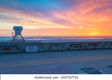 Mission Beach Sunset San Diego California