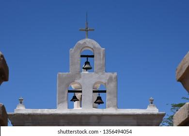 Mission bells at San Xavier Mission near Tucson Arizona built in the 1700s