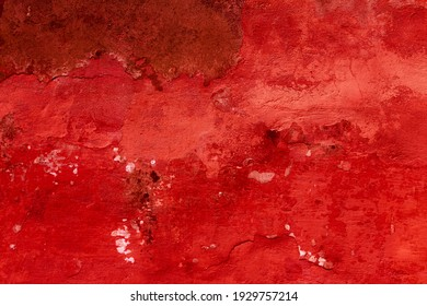 Mission to Mars. The surface of the red planet. Faults and craters in the surface topography. Desert in infrared light. Space textured background.