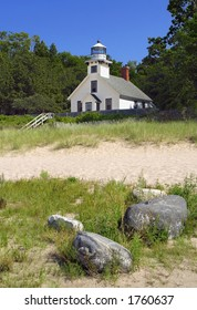 Mission Point Lighthouse, built 1870, Mission Peninsula in Grand Traverse Bay, Michigan