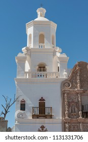 Mission San Xavier del Bac is a historic Spanish Catholic mission located on the Tohono O'odham Nation San Xavier Indian Reservation in Tucson, Arizona