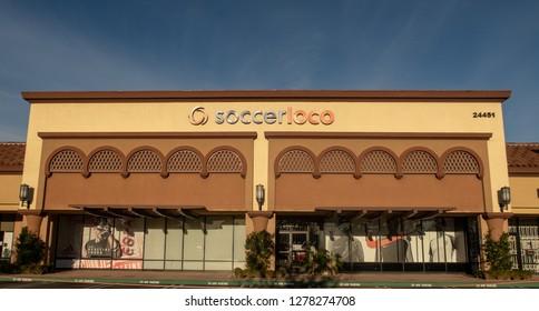 Mission Viejo, CA / USA - 01/08/2019: Soccer Loco Store Location