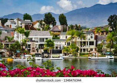Mission Viejo, CA / USA - 03-17-2015: Lake Mission Viejo is a reservoir created for recreation in Southern California.
