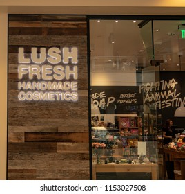 Mission Viejo, CA / USA - 08/07/2018: Lush Fresh Store at the Mission Viejo Mall