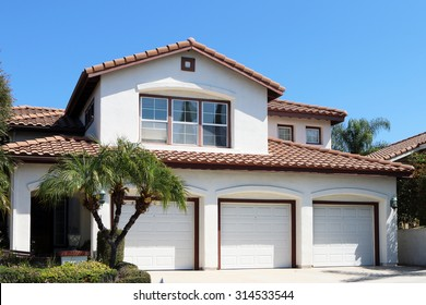 MISSION VIEJO, CA-AUGUST, 2015:  Executive home in southern California with a 3 car garage.