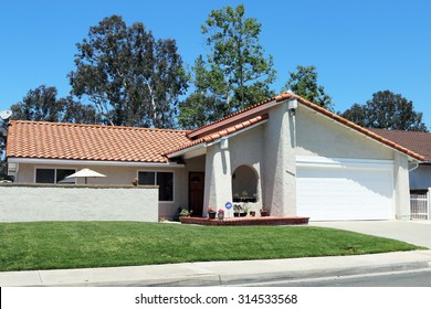 MISSION VIEJO, CA-AUGUST, 2015:  Executive home in a planned community in Orange County, California.