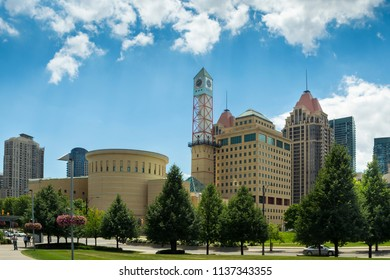 Mississauga City Hall, 300 City Centre Dr, Mississauga, ON L5B 3C1 Canada - July 18, 2018