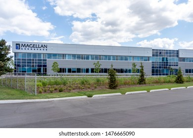 Mississauga, Ontario, Canada - August 11, 2019: Magellan new facility in Mississauga, Ontario, Canada. Magellan Aerospace Corporation is a Canadian manufacturer of aerospace systems