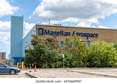 Mississauga, Ontario, Canada - August 11, 2019: Magellan facility in Mississauga, Ontario, Canada. Magellan Aerospace Corporation is a Canadian manufacturer of aerospace systems