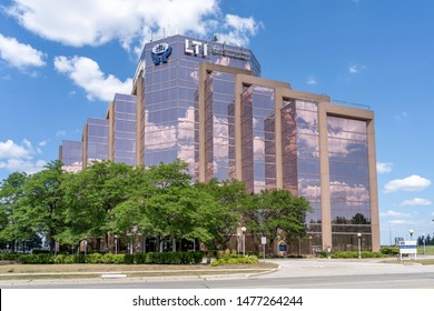 Mississauga, Ontario, Canada - August 11, 2019: LTI Canada Headquarter in Mississauga, Ontario, owned by Larsen & Toubro Infotech,  a Indian technology consulting and digital solutions company.