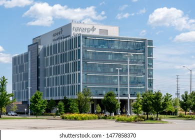 Mississauga, Ontario, Canada - August 11, 2019: Revera Inc. corporation office building in Mississauga, Ontario, Canada. Revera is a Canadian provider of accommodation, care and services for seniors.