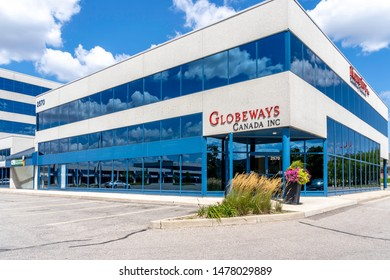 Mississauga, Ontario, Canada - August 11, 2019: Globeways Canada Inc. office building in Mississauga, Ontario, Canada. Globeways Canada Inc. is a exporter of top quality lentils, pulses, and grains.