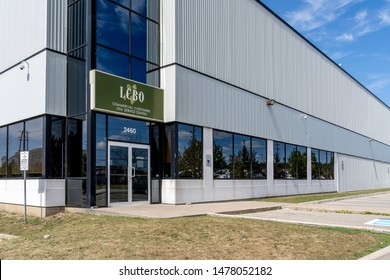 Mississauga, Ontario, Canada - August 11, 2019: LCBO GTA Commercial Customers Service Centre in Mississauga, Canada. Liquor Control Board of Ontario is a Crown corporation retails alcoholic beverages.