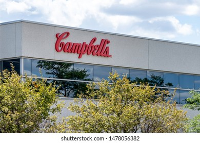 Mississauga, Ontario, Canada - August 11, 2019: Sign of Campbell's Canada office in Mississauga, Ontario, Canada. The Campbell Soup Company (Campbell's) is an American producer of canned soups