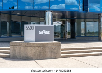 Mississauga, Ontario, Canada - August 11, 2019: Sign of SEB at its head office in  Mississauga, Ontario, Canada. Smart Employee Benefits Inc. is a Canadian technology company providing.