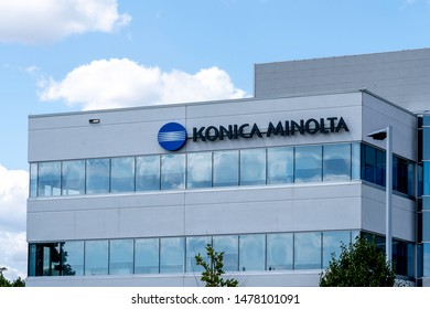 Mississauga, Ontario, Canada - August 11, 2019: Building of Konica Minolta Business Solutions (Canada) Ltd. in Mississauga,  a Japanese multinational technology company.