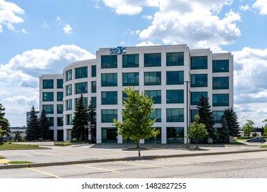Mississauga, Ontario, Canada - August 11, 2019: SS&C Technologies corporation office building in Mississauga a leading innovator in alternative investment technology solutions and services.