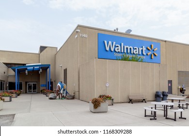 Mississauga, Ontario, Canada- August 25, 2018: Entrance of Walmart Corporate Office in Mississauga. Walmart Inc. is an American multinational retail corporation.
