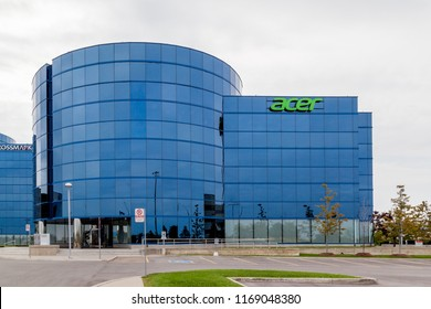 Mississauga, Ontario, Canada- August 25, 2018: Acer America Corporation in Mississauga. Acer Inc. is a Taiwanese multinational hardware and electronics corporation.