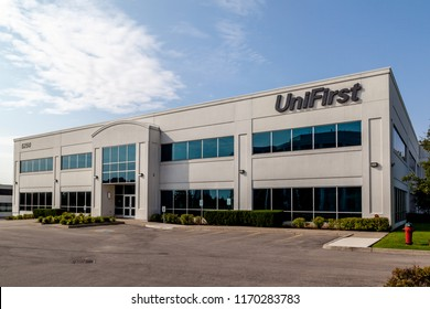 Mississauga, Ontario, Canada- August 25, 2018: The building of UniFirst Canada in Mississauga, a American uniform rental company.