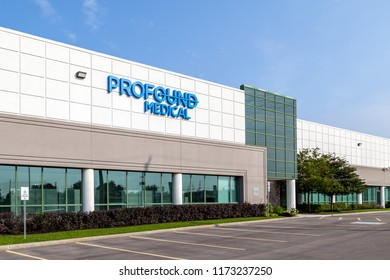 Mississauga, Ontario, Canada - August 25, 2018: Profound Medical headquarters building in Mississauga, a medical device company focuses on magnetic resonance guided ablation procedures.
