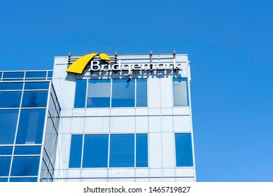 Mississauga, Ontario, Canada - July 14, 2019:  Bridgemark office building in Mississauga, Ontario, Canada, a Canadian Design agency.