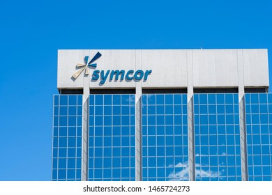Mississauga, Ontario, Canada - July 14, 2019:  Symcor office building in Mississauga, Ontario, Canada, a leading provider of business processing and client communications management services in Canada