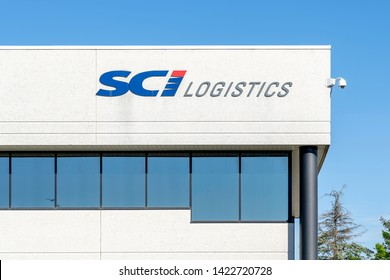Mississauga, Ontario, Canada - June 07, 2019:  Sign of SCI Logistics on the office building in Mississauga, Ontario, Canada.