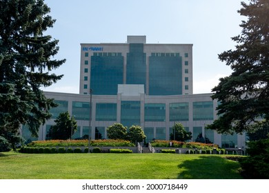 Mississauga, Ontario, Canada - June 27, 2021: Ingram Micro Canada head office in Mississauga, Ontario, Canada. Ingram Micro is the world's largest distributor of computer and technology products.