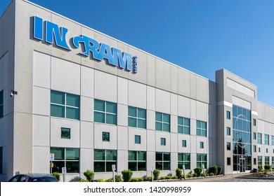 Mississauga, Ontario, Canada - June 7, 2019: Ingram Micro Canada in Mississauga, Ontario, Canada. Ingram Micro is the world's largest distributor of computer and technology products.