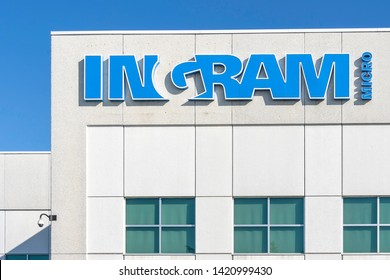 Mississauga, Ontario, Canada - June 7, 2019: Ingram Micro Canada sign in Mississauga, Ontario, Canada. Ingram Micro is the world's largest distributor of computer and technology products.