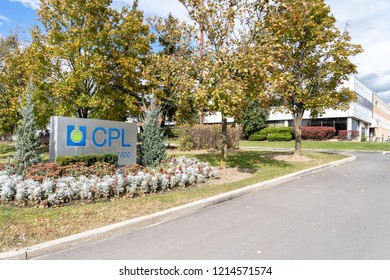 Mississauga, Ontario, Canada- October 20, 2018: Sign of CPL in Mississauga, an contract development and manufacturing organization in the non-sterile liquid and semi-solid pharmaceutical products.