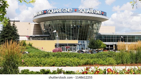 MISSISSAUGA, ONTARIO/CANADA- AUGUST 1, 2018: The Square One Mall in Mississauga, Ontario