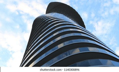 MISSISSAUGA, ONTARIO/CANADA- JULY 21, 2018: The Absolute World, condominiums in Mississauga, Canada